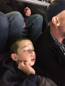 asleep at the ice hockey