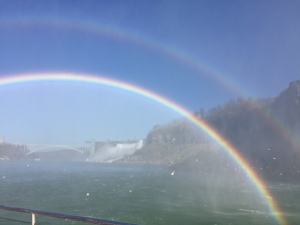 double rainbows and falls