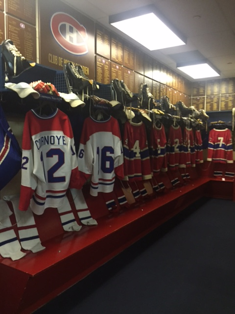 ice hockey hall of fame dressing room
