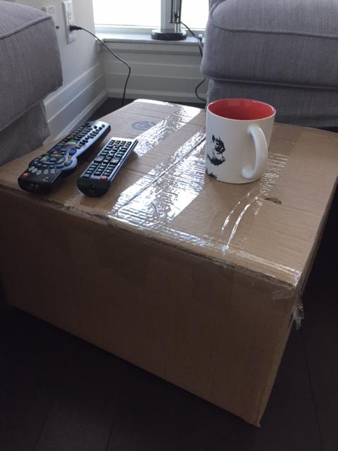 cardboard chic coffee table