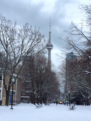CN Tower Snow
