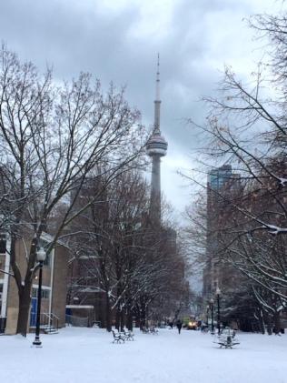 CN Tower Snow