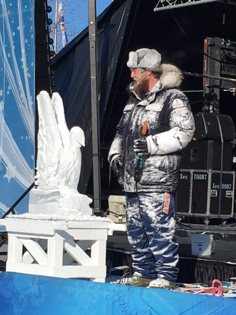 Ice carving guy