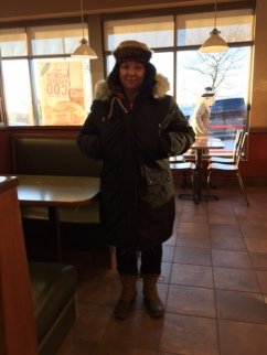 Marg from Fargo in Tim Hortons