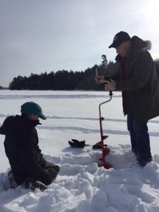 ice fishing drilling