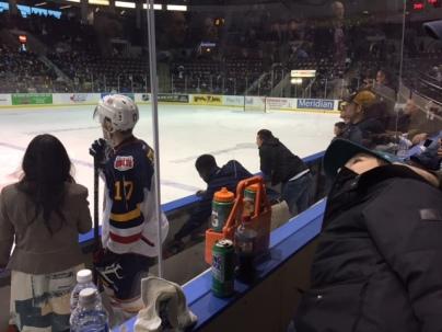 ice hockey interview player
