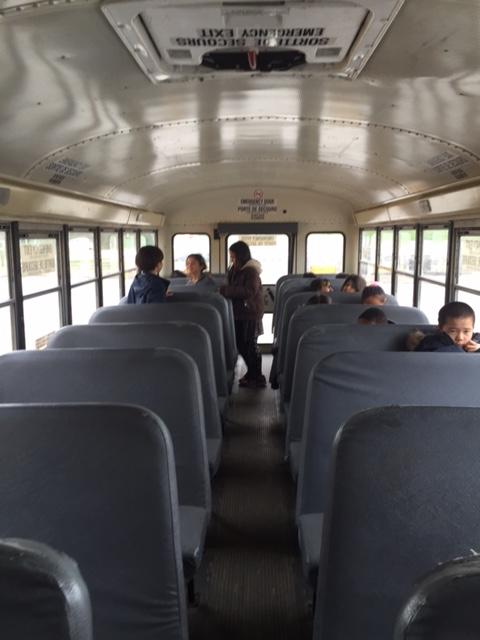 school bus inside